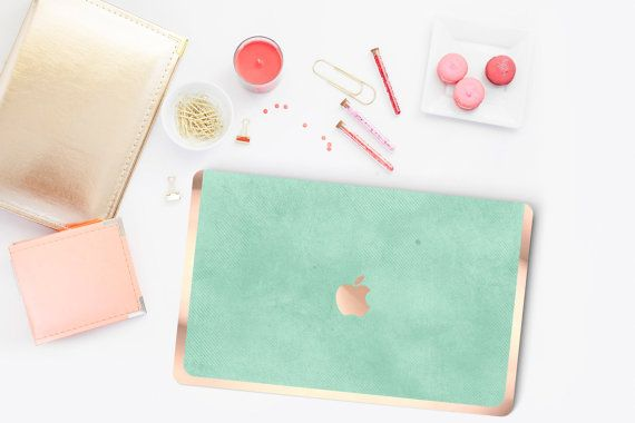 Mint Green and Rose Gold Macbook Hybrid Hard Case -Check out this item in my Etsy shop https://www.etsy.com/listing/255484848/platinum-edition-new-york-mint-green