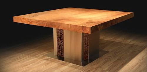 Here we have utilised our Argo design to add that finishing touch to our latest dining table. We have made this table from 4000 year old Ancient kauri, it is a huge piece of timber at 1.7m square in a single piece.  Highlighting that our Kyoto Design eco screens can be utilised almost anywhere.