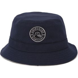Quiksilver comes with a cool men's bucket hat. The OG Reverse Bucket Hat for men has a navy canvas base with a gray fleece reverse side and Quiksilver logos on both. Reversible bucket hat with Quiksilver logo on front. One size fits most. Imported.