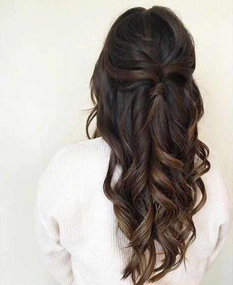Wedding season #HairGoals #brunetteweddinghair