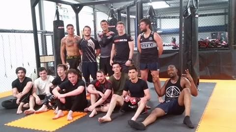 The Rebel Alliance #MMA club boys tonight after training Hangar HPC