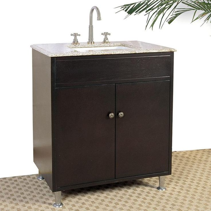 accord 30 inch bathroom vanity chestnut brown finish