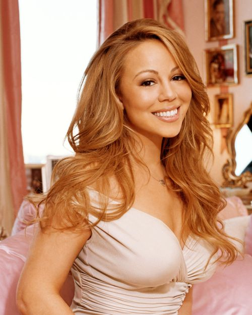 Mariah Carey: she's got the persona of a paperweight. It's like I want to stick a cattle prod up her arse to get a reaction. And she looks like a bleached skinned creampuff!