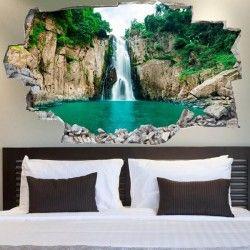 3D-Vinyl-Wandsticker Wasserfall