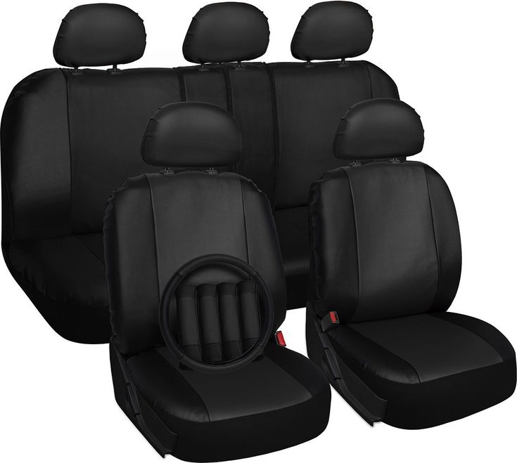 Faux leather black seat cover for toyota rav4 steering