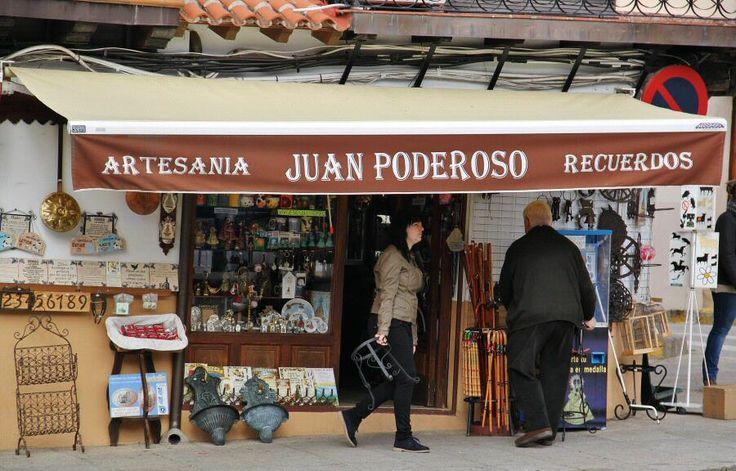 Tienda de souvenirs en Guadalupe en Extremadura