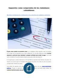 Impuestos como compromiso de los ciudadanos colombianos