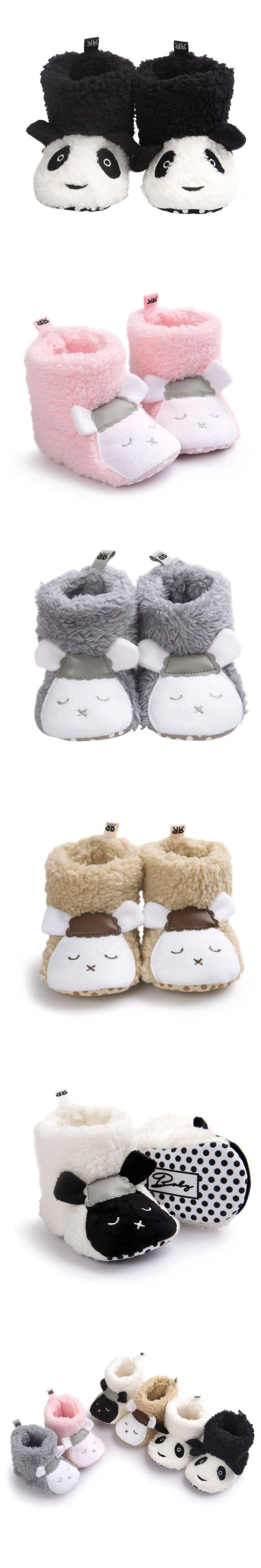 Winter Cute Baby Shoes Girls Warm Baby Girls Comfort Toddler Girl Shoes Infant Girl Bear Woolen Boots Baby Shoes $4.89