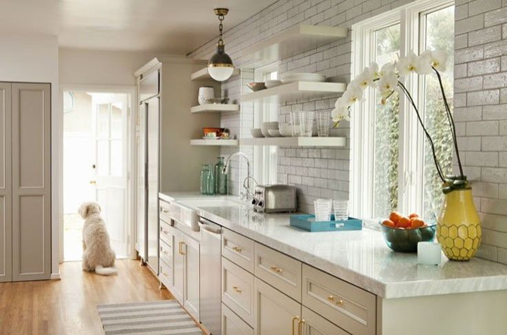 Easy on the Eyes: 5 Gray & Cream Kitchens (And the Perfect Off-White Paint Color)