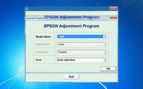 epson p50 reset key