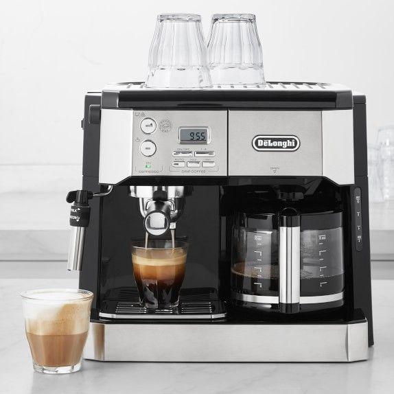 De Longhi All In One Combination Coffee Maker Espresso Machine Williams Sonoma Espresso Coffee Machine Coffee Maker