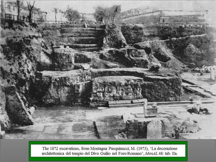 Photo of 1872 Excavation of Temple of Divus Julius
