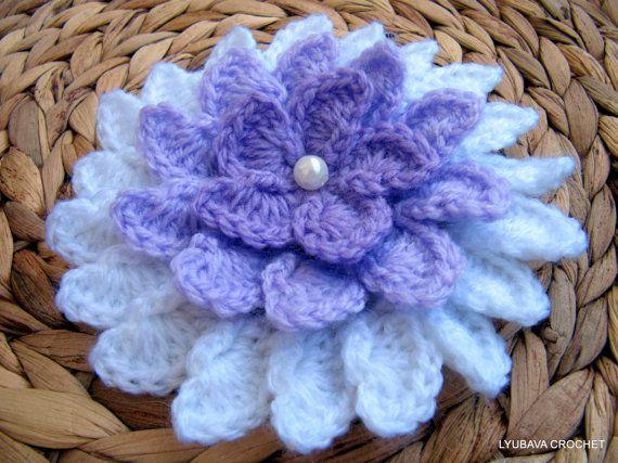 Crochet Pattern Big Flower Crochet Pattern Lilac by LyubavaCrochet