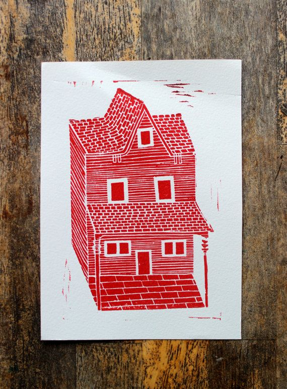 Red house inspired by my move to Toronto.