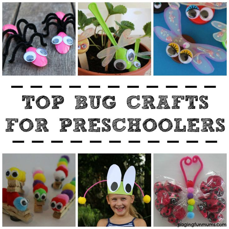 Here are our 7 Bug Crafts for preschoolers - #kids #DIY #bugs @paging!