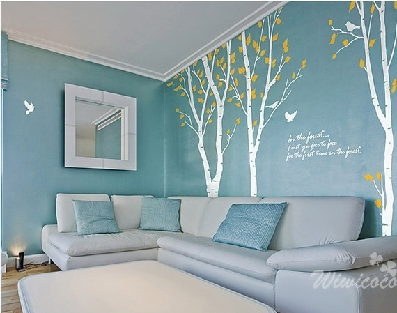 Love the color and wall decals for my room!
