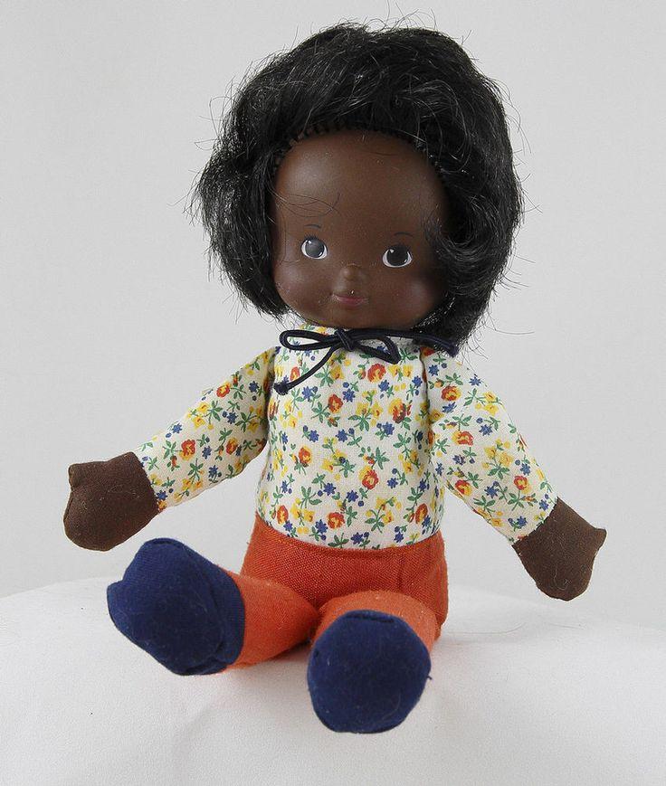 Vtg 1978 Billie Fisher Price Kids 242 African American Doll Missing Skirt Hat #FisherPrice