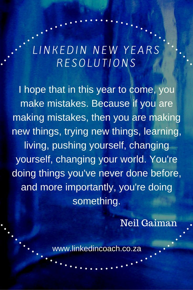 LinkedIn inspiration for the new year.