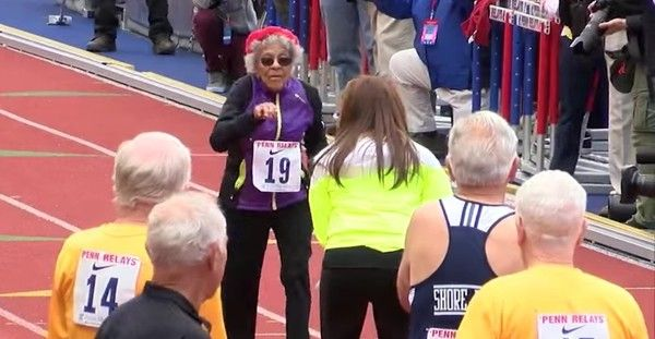 100-year-old woman sets world record for 100m dash. I can barely get out of my own chair let alone run the 100m dash! Good for her!