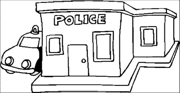 Resultado de imagen para police station for coloring