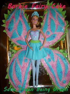 Save Green Being Green: Try It Tuesday: Barbie Fairy Cake