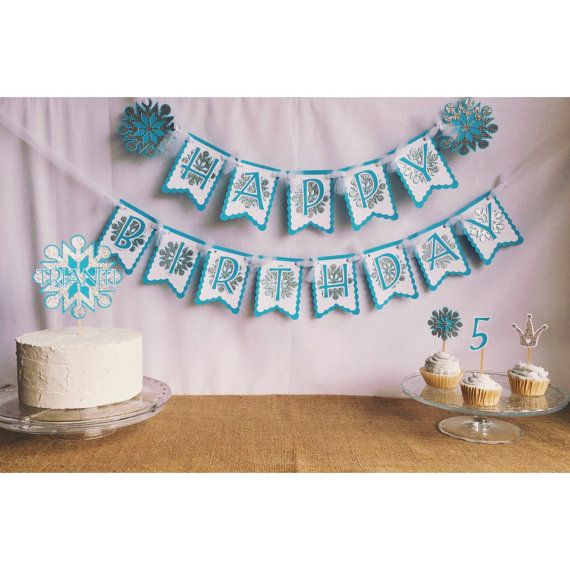 frozen banner frozen birthday banner frozen birthday by FalcoClan
