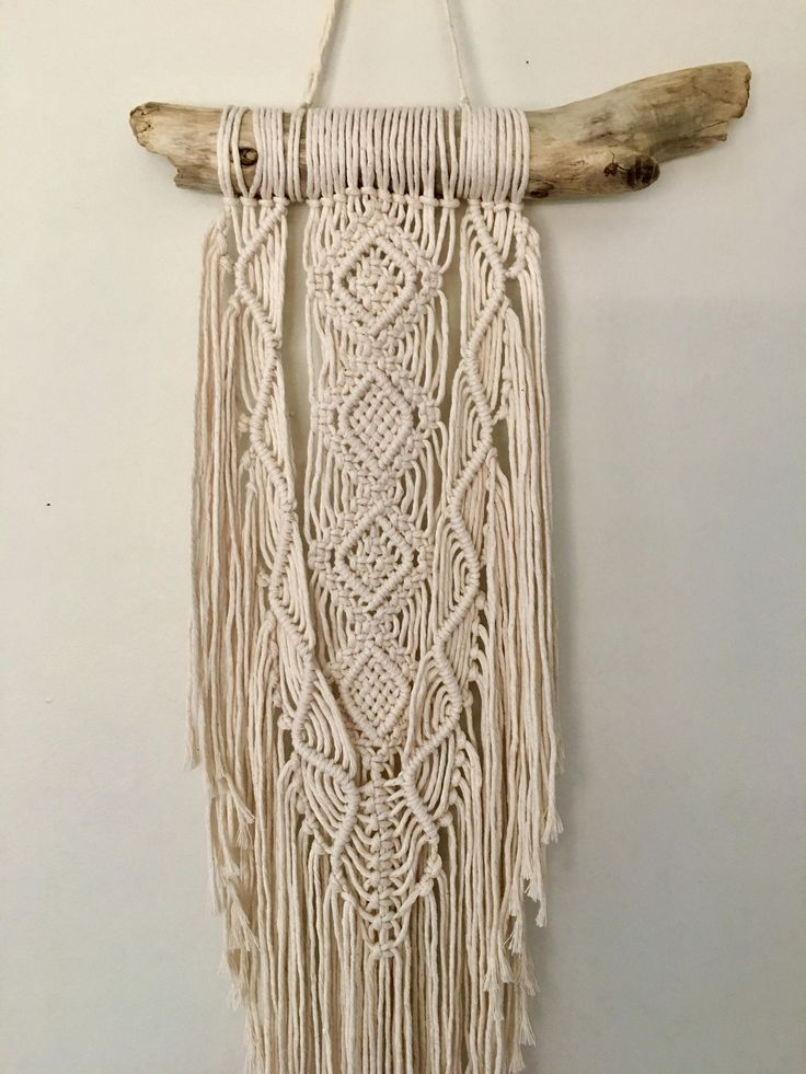 macrame wall hanging instructions