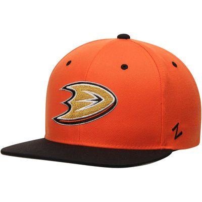 Men's Anaheim Ducks Zephyr Black/Orange Z11 Snapback Adjustable Hat