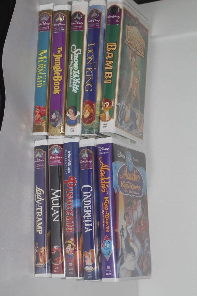 A Lot Of 10 Disney Vhs Children S Movies Disney Vhs Pinterest