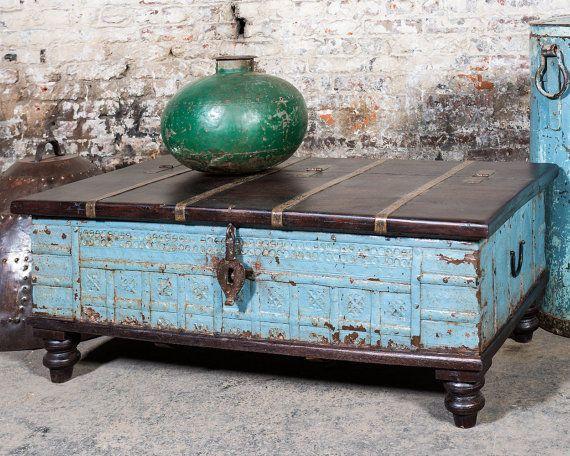 595.00 USD****WAS $699 NOW $595****Salvaged Vintage. Antique TrunksVintage TrunksTrunk  Coffee TablesSteamer ...
