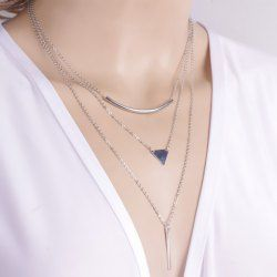 SHARE & Get it FREE | Chic Geometric Pendant Layered Link Design Necklace For WomenFor Fashion Lovers only:80,000+ Items • FREE SHIPPING Join Twinkledeals: Get YOUR $50 NOW!