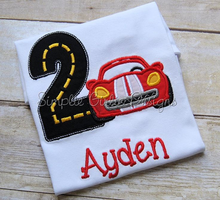 Custom race car birthday shirt. Personalized. Sizes 12m to 5T. Made to fit your birthday theme. Other colors and sizes available. by SimplieGirlieDesigns on Etsy https://www.etsy.com/listing/190350495/custom-race-car-birthday-shirt