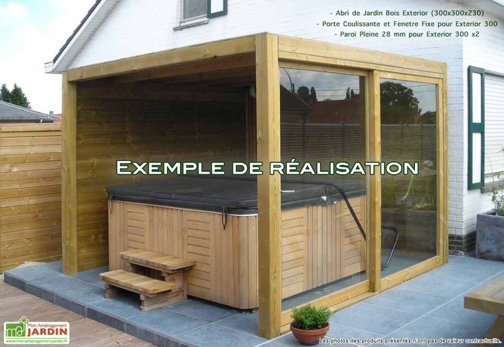 abri caban abri bois abri pour pour spa shelter de jardine jardine ...