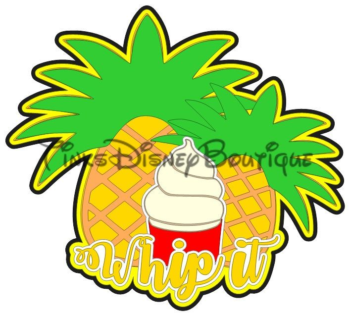 Disney SVG Title Whip It, Dole Whip Disneyland Disney World Scrapbook Cricut Silhouette Print then Cut by TinksDisneyBoutique on Etsy https://www.etsy.com/listing/506169036/disney-svg-title-whip-it-dole-whip