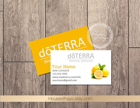 DoTERRA Essential Oils Business Cards  Double Sided by HouseofHays
