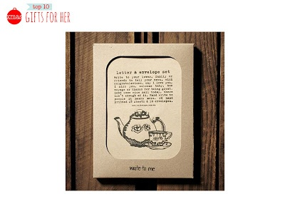 Letter writing set on recycled paper by Write To Me