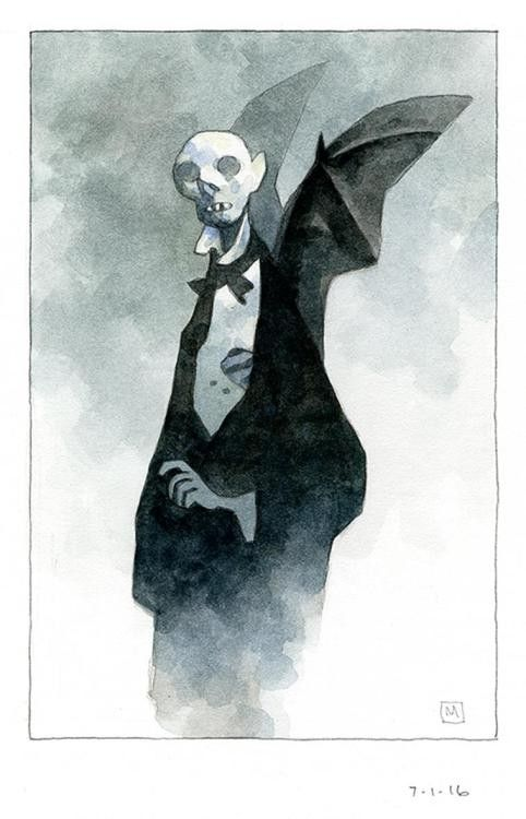 Mike Mignola watercolors