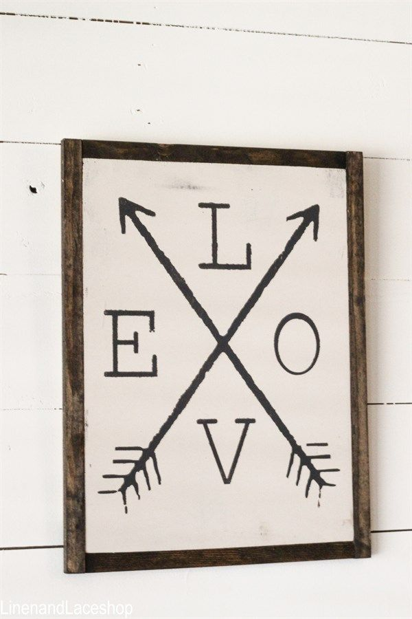 Love Arrow Handpainted Sign | Jane