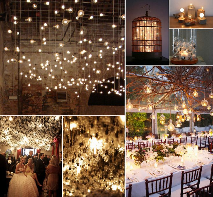 Light up your reception with these ideas diy wedding for Diy wedding reception lighting