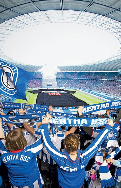 Hertha BSC im Olympiastadion