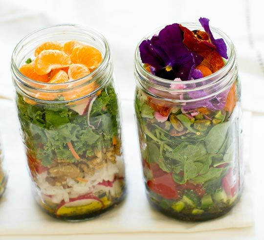 Salad in a mason jar! Make a weeks worth of healthy, easy, lunches!!! No more Fast Food or junk on the go!
