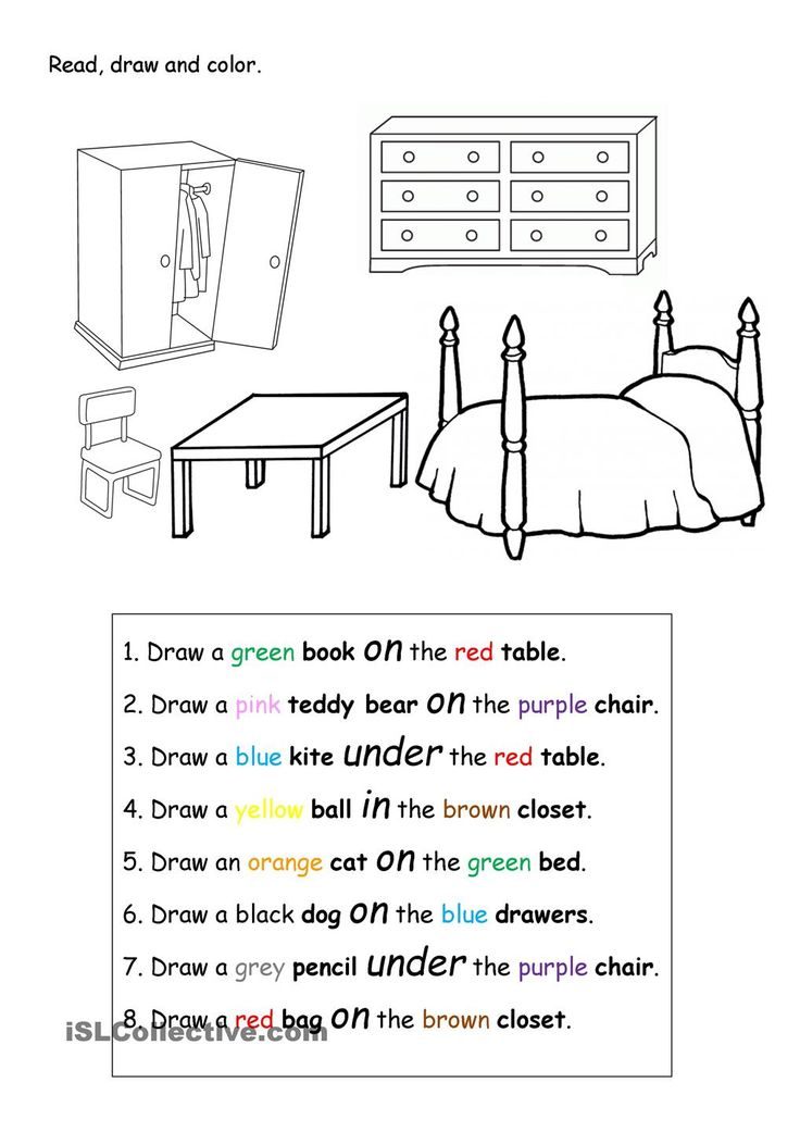 Read, draw and color.