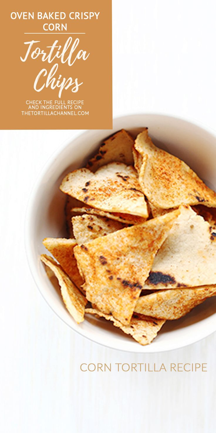 Oven baked corn tortilla chips. Great tortilla chips recipe. Low fat and tasty snack. Give it a try you will love it.