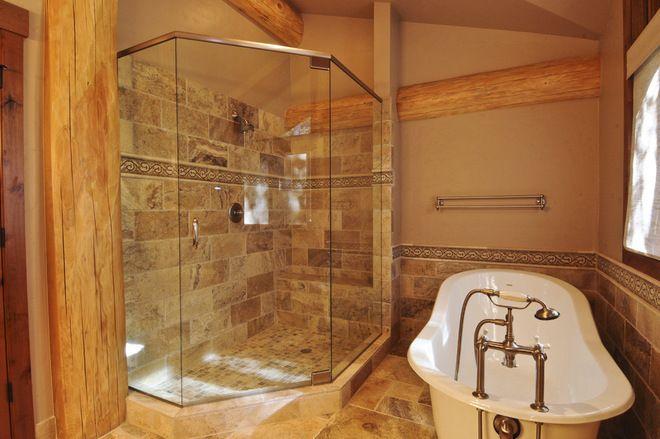tuscan bathroom tile designs bathroom by mountain log homes interiors bath ideas pinterest tuscan bathroom design