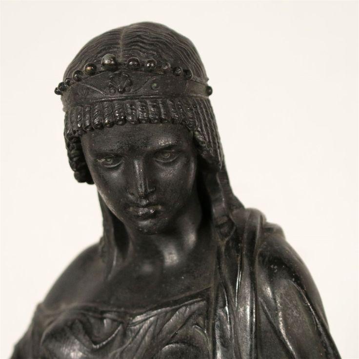 Pendule Antimoine Marbre noir Bronze doré Japy Fr…