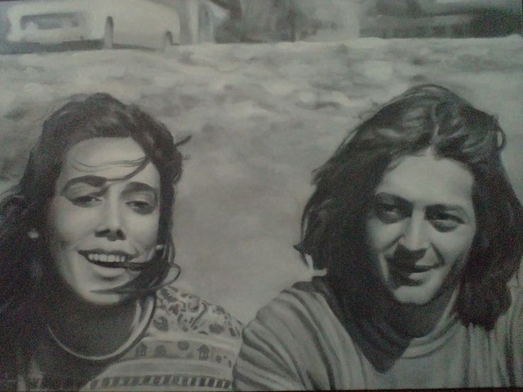 oil on canvas, Pato y Angela!!  Benjamin