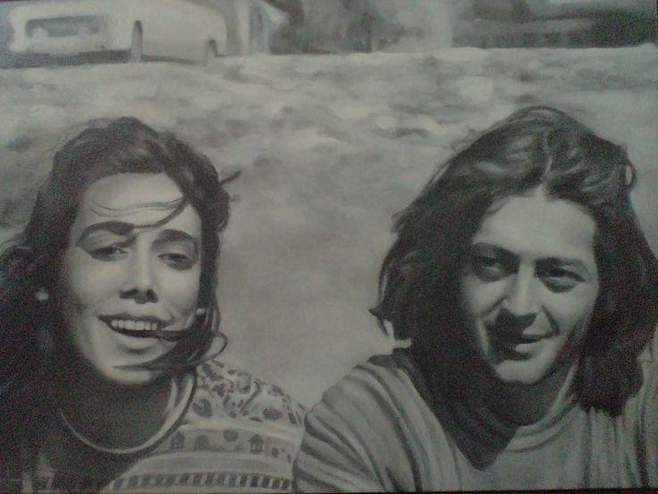 oil on canvas, Pato y Angela!!  Benjamin