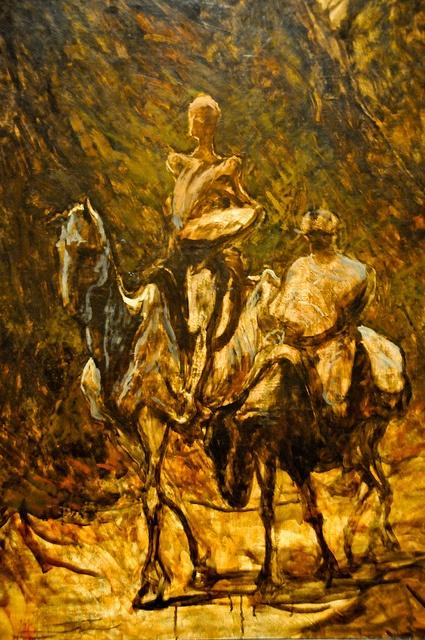 Don Quixote and Sancho Panza [Honore Daumier]