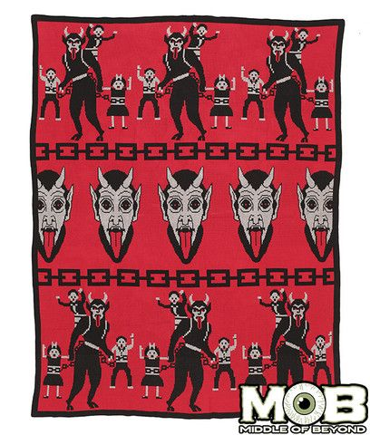 Krampus The Christmas Devil Blanket – Middle of Beyond