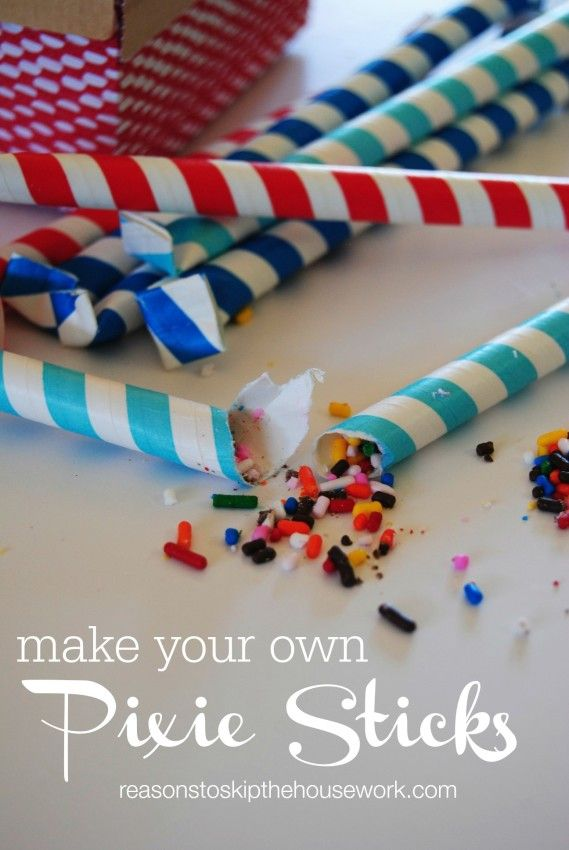 if you don't like the powdery candy that comes inside pixie sticks, you can always make your own!